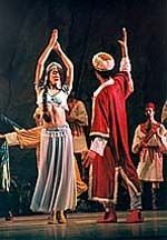 Pasha Seyd and Gulnare from Le Corsaire presented at the Cairo Opera in 1999, choreographer Abdel-Moneim Kamel