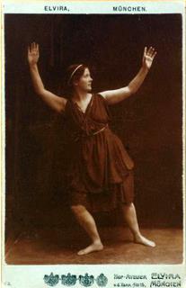 Isadora Duncan in una foto di Elvira studio, Monaco 1904